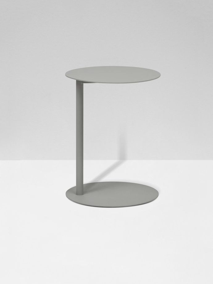 Aperto Ali Round Tall Side Table Grey, Tall Round Table