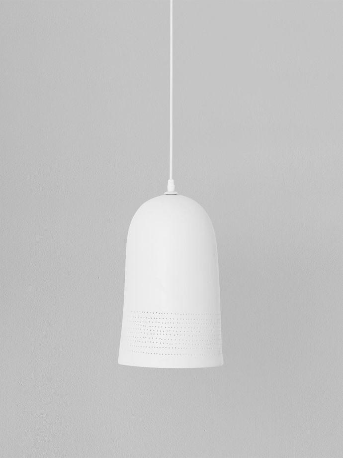 white porcelain pendant