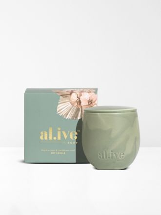 Blackcurrant & Caribbean Wood Soy Candle by Al.ive