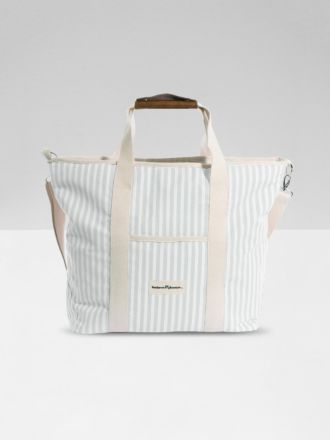 The Cooler Tote by Business & Pleasure - Sage Stripe