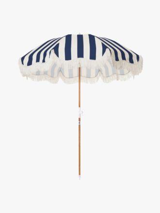 Holiday Beach Umbrella - Navy Crew Stripe