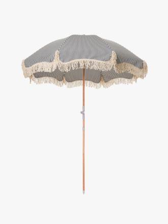 Premium Beach Umbrella - Navy Stripe
