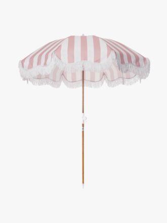 Holiday Beach Umbrella by Business & Pleasure - Pink Crew Stripe
