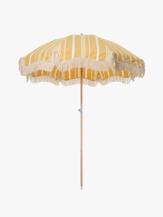 Premium Beach Umbrella by Business & Pleasure - Yellow Stripe