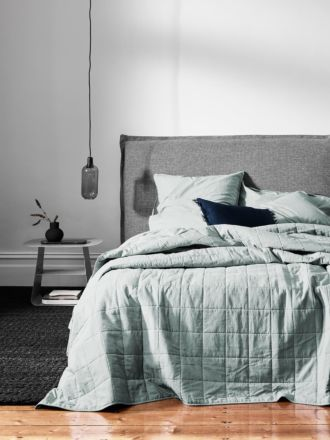 Chambray Bed Cover - Mineral