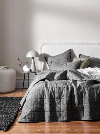 Chambray Bed Cover - Smoke