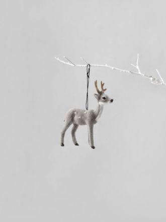 Reindeer Decoration - Grey