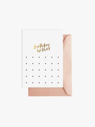 Birthday Wishes by Elm Paper