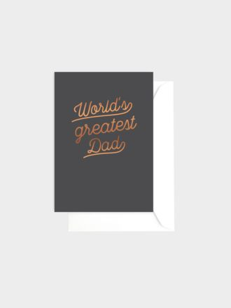 World's Greatest Dad by Elm Paper
