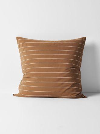 French Stripe Organic Cotton European Pillowcase - Bronze