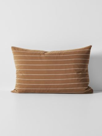 French Stripe Organic Cotton Standard Pillowcase - Bronze