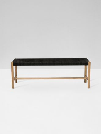 Anchor Woven Bench Seat in Black