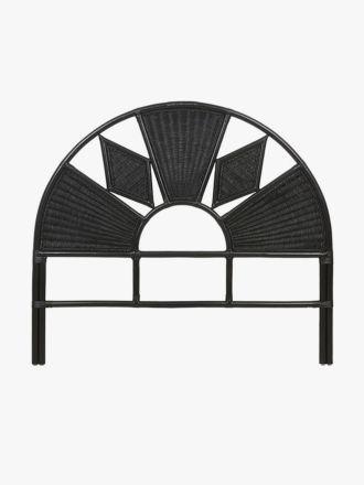 Avery Arch Diamond Bedhead in Black