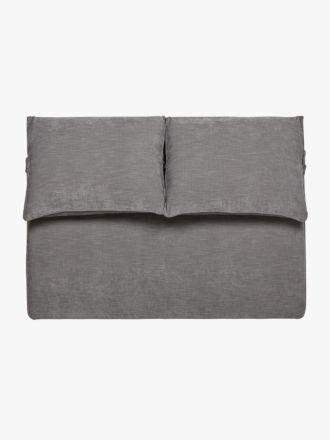 Felix Slouch Bedhead in Grey Stone - King