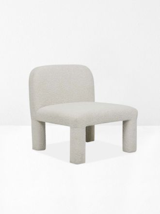 Hugo Arc Occasional Chair in Oat Boucle