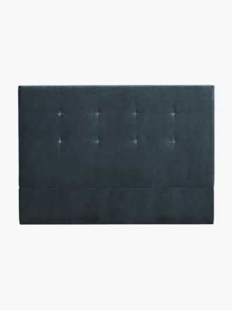 Kennedy Velvet Stitched Bedhead in Navy - King