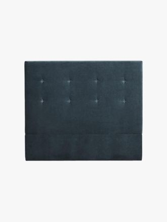 Kennedy Velvet Stitched Bedhead in Navy - Queen
