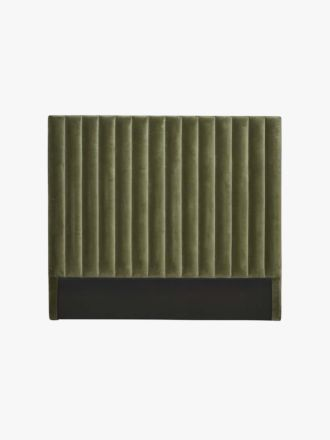 Kennedy Velvet Tufted Bedhead in Olive - Queen