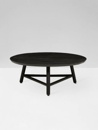 Linea Tri Base Coffee Table in Black