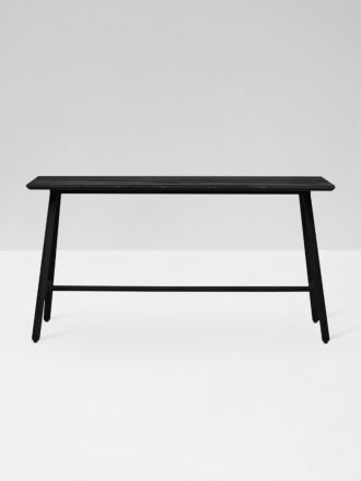 Linea Tri Console Table in Black Ink