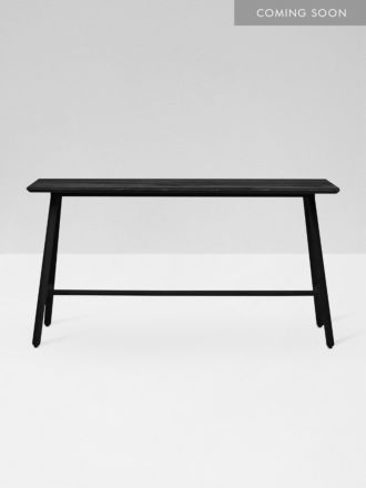 Linea Tri Console Table - Black Ink