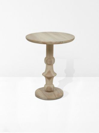 Normandy Pillar Side Table in Natural