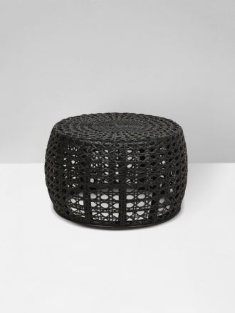 Tully Woven Small Coffee Table in Black