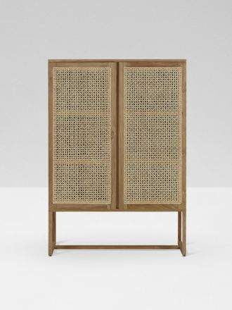 Willow Woven Cabinet in Natural