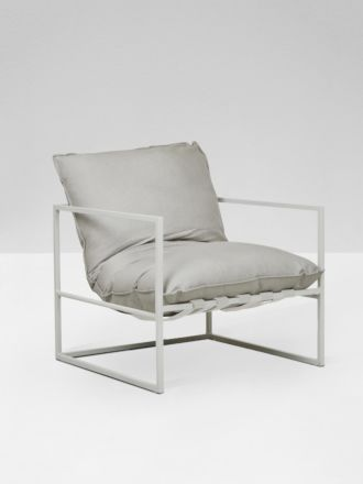 Aruba Occassional Chair - White/ Putty