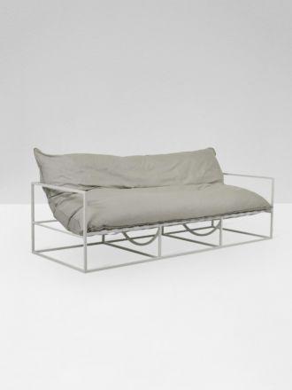 Aruba 2 Seater Sofa - Putty/ White
