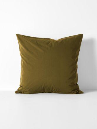 Halo Organic Cotton European Pillowcase - Khaki