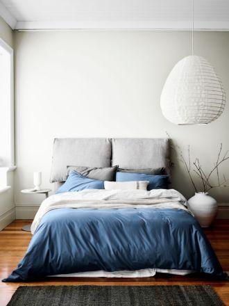 Halo Organic Cotton Quilt Cover - Bijou Blue
