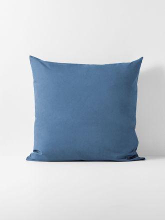 Halo Organic Cotton European Pillowcase - Bijou Blue