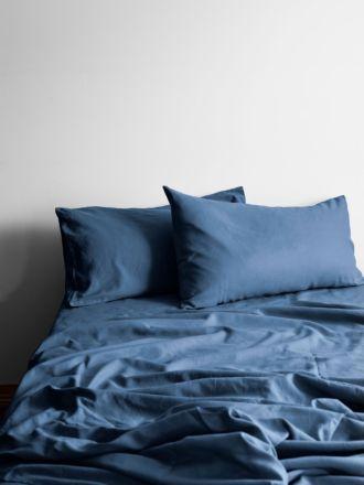 Halo Organic Cotton Sheet Set - Bijou Blue