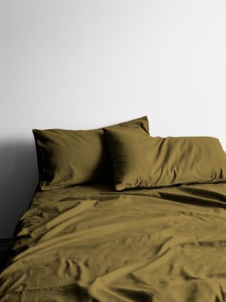Halo Organic Cotton Sheet Set - Khaki