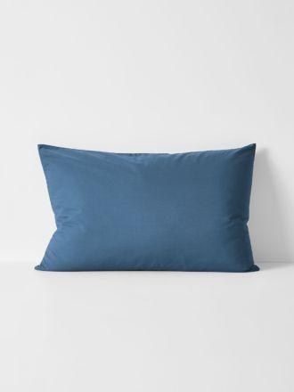 Halo Organic Cotton Standard Pillowcase - Bijou Blue