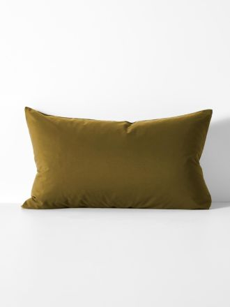Halo Organic Cotton Standard Pillowcase - Khaki