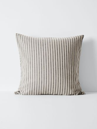 Heirloom Stripe European Pillowcase - Charcoal