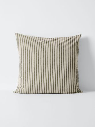 Heirloom Stripe European Pillowcase - Khaki