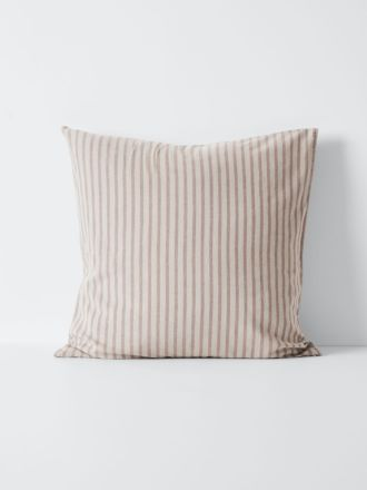 Heirloom Stripe European Pillowcase - Rosewater