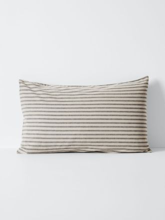 Heirloom Stripe Standard Pillowcase - Charcoal