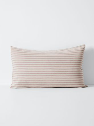 Heirloom Stripe Standard Pillowcase - Rosewater
