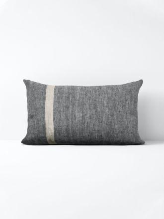 Herringbone Rectangle Cushion - Charcoal