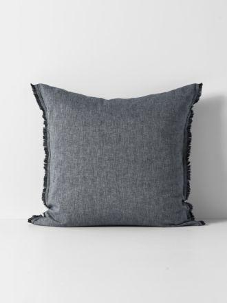 Herringbone European Pillowcase - Ink