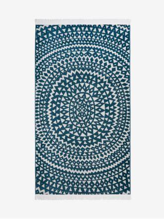Inca Beach Towel - Indian Teal