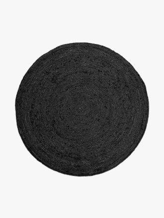 Jute Round Rug - Black