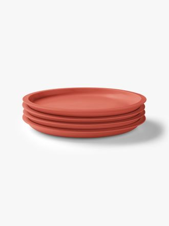Kali Dinner Plate set of 4 - Coral