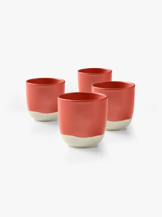 Kali Cup set of 4 - Coral