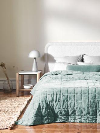 Luxury Velvet Bed Cover - Jade