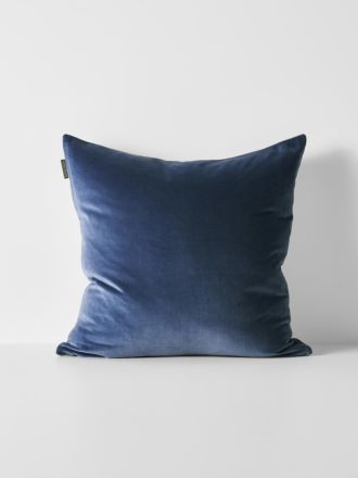 Luxury Velvet Cushion - Bijou Blue